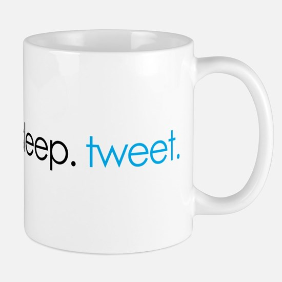 eat. sleep. tweet. funny twitter shirts Mug