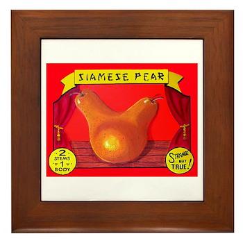 Produce Sideshow: Pear Framed Tile