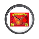 Produce Sideshow: Pear Wall Clock