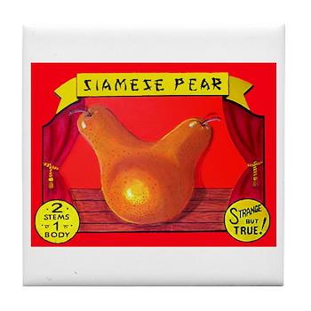 Produce Sideshow: Pear Tile Coaster