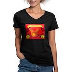 Produce Sideshow: Pear Women's V-Neck Dark T-Shirt