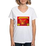 Produce Sideshow: Pear Women's V-Neck T-Shirt