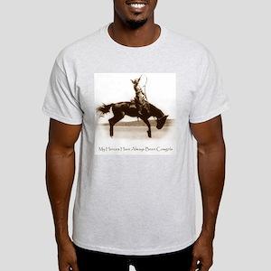 Cowgirl Hero antiqued image Ash Grey T-Shirt