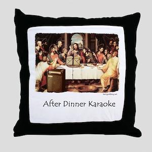 JC Karaoke Throw Pillow