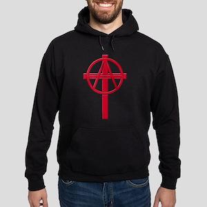 Anarchist Crucifix Hoodie (dark)
