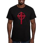 Anarchist Crucifix Men's Fitted T-Shirt (dark)