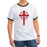 Anarchist Crucifix Ringer T