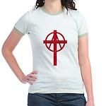 Anarchist Crucifix Jr. Ringer T-Shirt