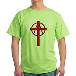 Anarchist Crucifix Green T-Shirt