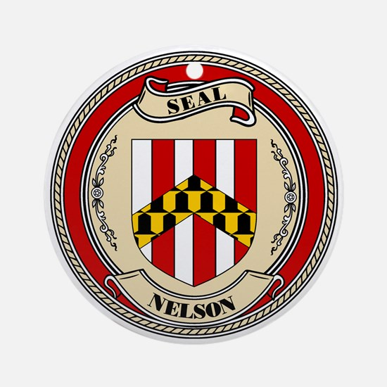 Seal - Nelson Ornament (Round)