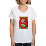 Produce Sideshow: Lettuce Women's V-Neck T-Shirt