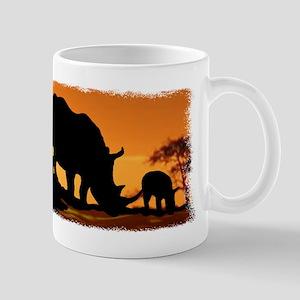 Rhino Family Mug