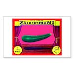 Produce Sideshow: Zucchini Rectangle Sticker