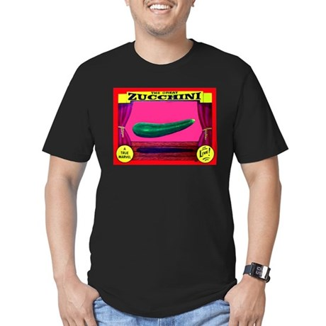Produce Sideshow: Zucchini Men's Fitted T-Shirt (d