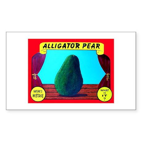 Produce Sideshow: Avocado Rectangle Sticker