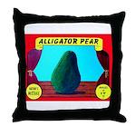 Produce Sideshow: Avocado Throw Pillow