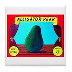 Produce Sideshow: Avocado Tile Coaster