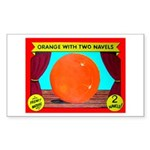 Produce Sideshow: Orange Rectangle Sticker
