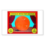 Produce Sideshow: Orange Rectangle Sticker