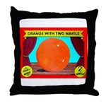 Produce Sideshow: Orange Throw Pillow
