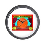 Produce Sideshow: Orange Wall Clock