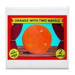 Produce Sideshow: Orange Tile Coaster