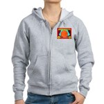 Produce Sideshow: Orange Women's Zip Hoodie