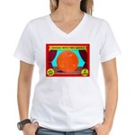 Produce Sideshow: Orange Women's V-Neck T-Shirt