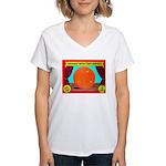 Produce Sideshow: Orange Women's V-Neck T-Shirt