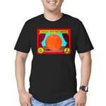 Produce Sideshow: Orange Men's Fitted T-Shirt (dar
