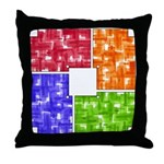 Aerial Colors Throw Pillow
