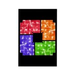 Aerial Colors Rectangle Magnet (10 pack)