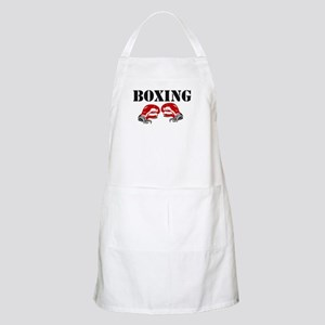 "Boxing Gloves w/ ""Boxing"" BBQ Apron"