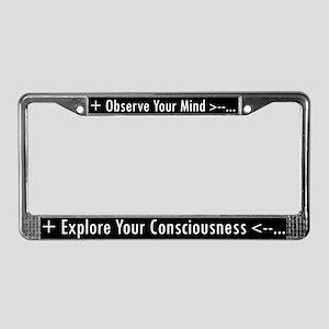 O|E License Plate Frame