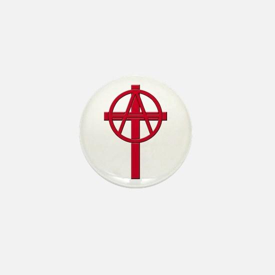 Anarchist Crucifix Mini Button