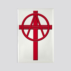 Anarchist Crucifix Rectangle Magnet