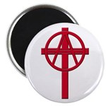 Anarchist Crucifix 10 Round Magnets