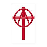 Anarchist Crucifix 10 Rectangular Stickers