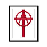 Anarchist Crucifix Framed Panel Print