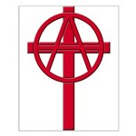 Anarchist Crucifix Small Poster