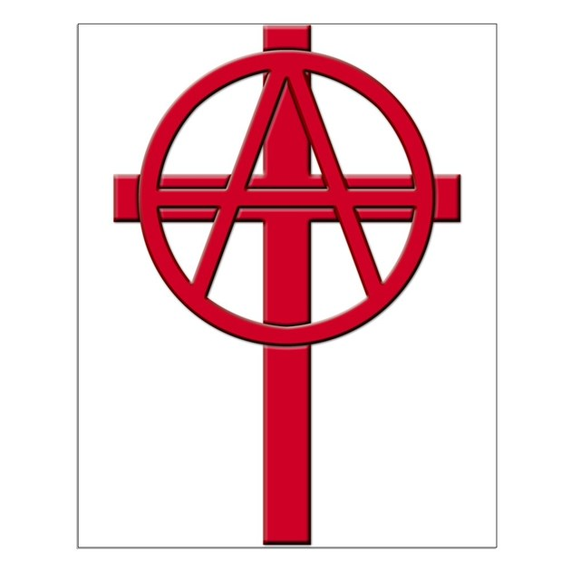 Anarchist Crucifix Posters By Anarchycross