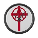 Anarchist Crucifix Large Wall Clock