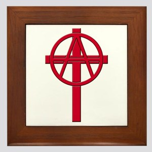 Anarchist Crucifix Framed Tile
