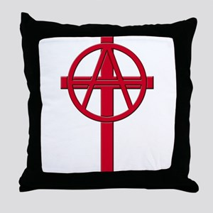 Anarchist Crucifix Throw Pillow