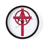 Anarchist Crucifix Wall Clock
