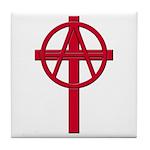 Anarchist Crucifix Tile Coaster