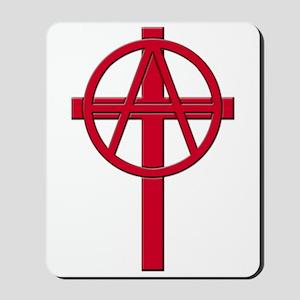 Anarchist Crucifix Mousepad