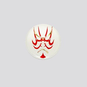 Kabuki Mask Mini Button
