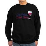 Save Water Drink Wine Sweatshirt (dark)