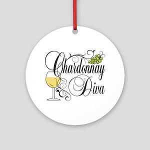Chardonnay Diva Ornament (Round)